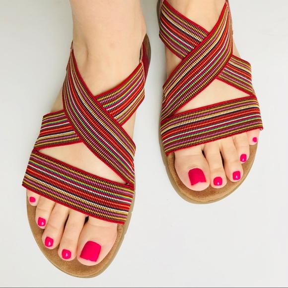 efb26f7e52bdd7 A2 By Aerosoles Shoes - A2 Aerosoles sz 9 WipGloss Rainbow Stretch Sandals